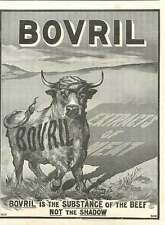 1900 Bovril Is The Substance Not The Shadow