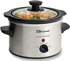 Electric Slow Cooker Small Crock Pot Mini Stainless Steel Cooking 1.5 Quart Qt