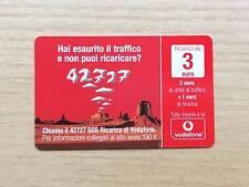 RICARICA TELEFONICA OMNITEL / VODAFONE - CHIAMA AL 42727 SOS - 3 EURO - 2012