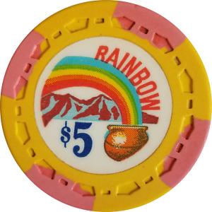 Rainbow $5 Casino Chip - California