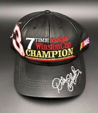 Dale Earnhardt #3 7 Time NASCAR Winston Cup Champ JH Design Racing Hat Leather