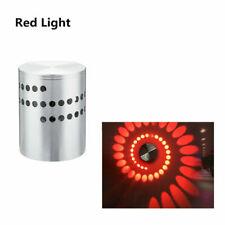 Espiral de aluminio LED de pared de luz 3W RGB Espiral Lámpara De Pared Decoración Para Fiestas Barra De Dormitorio