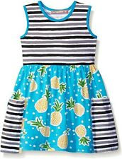 JELLY THE PUG girls NEW Sleeveless 100% cotton Pineapple Dress 7 with a pocket