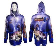 New Killer Crank Jewfish Hooded Fishing Shirt Mens XS Up To 3XL + Kids 6,8,10,12