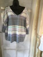 George Ladies Striped Tunic Size 18, Beautiful Design, Brand New Without Tags.