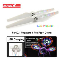 2 Pcs Led Flash Propeller Blades Usb Charge Prop For Dji Phantom 4 Accessories