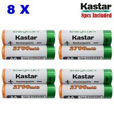 Kastar AA 8-Pack Ni-MH 2700mAh Super High-Capacity Rechargeable Batteries