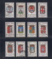 ESPAÑA (1962) SERIE COMPLETA USADA - EDIFIL 1406/17 ESCUDOS