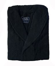 Brand New 100% Cotton Terry Bath Robe Small Size Black