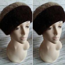 Vintage 1960's Brown KANGOL Angora Wool Beret. Size 52.