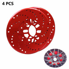 4X Car Aluminum Alloy Wheel Brake Disc Cover Decorative Rotor Cross Drilled Red