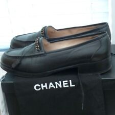 Chanel black loafers flats marked 39 fit 38 or 5