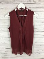 MASSIMO DUTTI Top - Size Medium - Burgundy - Great Condition - Women's