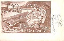 917) ARMA DEL GENIO, COMMEMORAZIONE DELLA PRESA DI GAETA. VIAGGIATA.