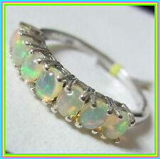Genuine Ethiopian Welo Opal  Ring Platinum Sterling Silver 925 sz 6 or 8 option