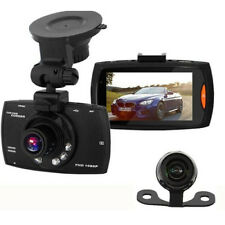 "2.7"" 1080P Dual Lens CAR DVR Dash Cam Video Recorder Night Vision + Rear Camera"