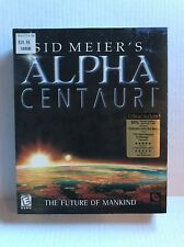 Sid Meier's Alpha Centauri PC 1998 Big Box complete Firaxis Poster Windows 98 95