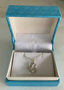 "Maui Divers 925 Sterling Silver 925 Plumeria Pendant and 18"" Chain"