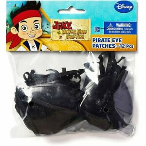 Jake and the Never Land Pirates Party Accessories Pirate Eye Patches 12 Count