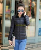 NEW Womens Duck Goose Down Winter Jacket Warm Puffer Coat Packable Sz