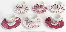 BODUM - SET 6 ESPRESSO CUPS Pink Geometric Abstract Pattern Modern Design Coffee