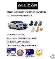 Sheepskin Car Seatcovers for Holden Malibu Five colours, Seat Airbag Safe 30mmTC