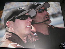 Kyle Busch #18 and Steve Addington Pic on Poster Board Ready to Hang 16x20  NEW