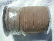 Foldover Elastic 10 yds 5/8 Llama BROWN Tan Chevron NEW Baby Headbands