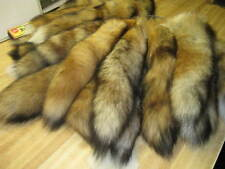 Tanned Red Fox  Tails Trapping Fur Coats Fur
