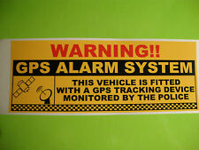 """2 X GPS Tracking Warning Adesivi 8 """"X 3"""" CAMION ROULOTTE TRATTORI BARCHE"""