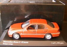 MERCEDES C CLASS W202 1997 DESIGNO ORANGE METALLIC MINICHAMPS 430 037000 1/43