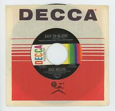 Rick Nelson 1970 Decca 45 rpm  Easy To Be Free b/w Come On In  NM