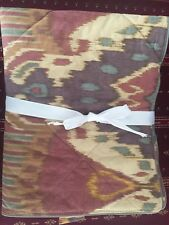 Pottery Barn Set of Two Brennan Ikat Standard Sham Bedding Purple Southwest