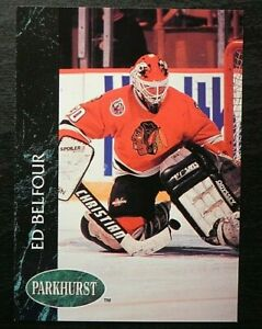 1992-93 92/93 Parkhurst #28 Ed Belfour Chicago Blackhawks