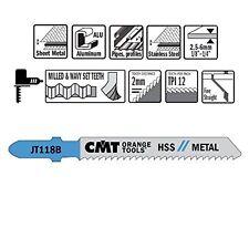 CMT: 5 lame per seghetto alternativo a taglio dritto, lamiera media JT118B-5