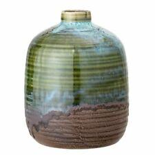 Bloomingville Vase Steingut Braun-Grün Patina