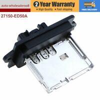 New Blower Motor Heater Fan Resistor For Nissan Versa Cube Tiida 27150-ED50A