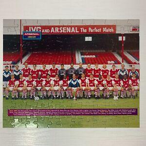 Vintage Original Jigsaw Puzzle Arsenal FC Team Photo 1994-1995 120pcs No Box EPL