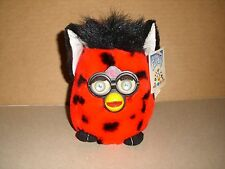 Plush Red & Black Furby - Nanco - 1999 - Tiger Electronics TAGS 6''