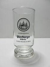 Wurzburger Hofbrau 8 Ounce German Beer Glass Wurzburg Germany Brewery