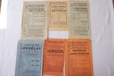 More details for 1911 - 1914 great central railway timetable handbill gcr x6