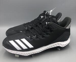 Adidas Icon Bounce Low Metal Baseball Cleats Black Mens Size 10.5 CG5241