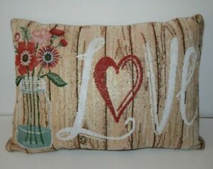"""Country Style """"Love"""" Throw Decorative Pillow 18"""" x 13"""""""