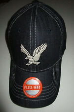 Mens American Eagle Dark Blue Denim Nufit Fitted Baseball Hat Cap L/Xl Large XL