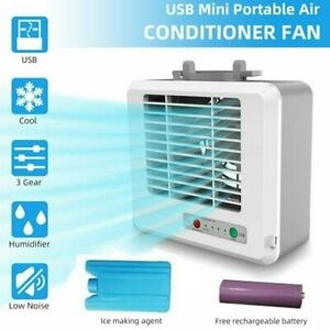 Mini Portable USB Air Conditioner Air Cooler Small Personal Desk Cooling Fan