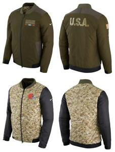 Nike Cleveland Browns NFL Salute to Service Reversible Jacket Men's Medium NEW