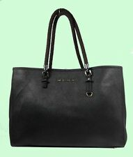MICHAEL KORS TRAVEL Black Leather Tote Bag Msrp $278 ** MK CARE CARD INCLUDED **