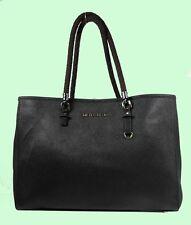 MICHAEL KORS TRAVEL Black Leather Tote Bag Msrp $278 ** MK CARE CARD INCLUDED **