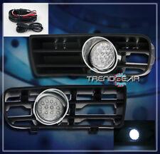 1999-2004 VW GOLF MK4 FRONT BUMPER LED CLEAR LENS FOG LIGHTS LAMP+GRILLE+HARNESS