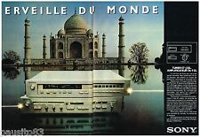 PUBLICITE ADVERTISING 105  1980  SONY le tuner ST-J 55 L ( 2p) AMPLI TAJ MAHAL